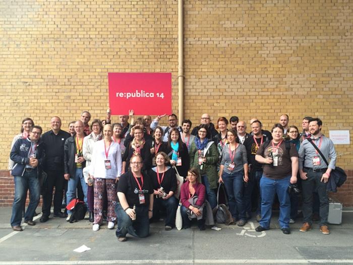 Die Iron Blogger auf der re:publica 2014 (Foto: CC-BY-SA Thomas Renger)